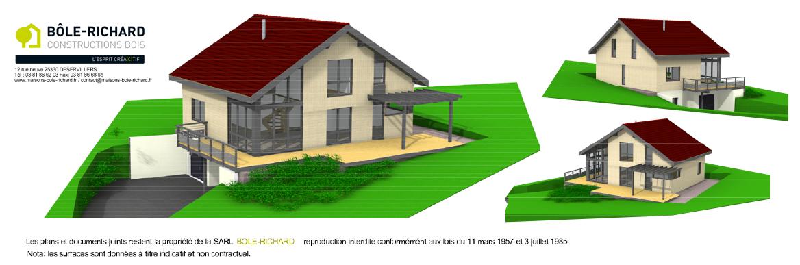 Maison à ossature bois sur-mesure Bole Richard