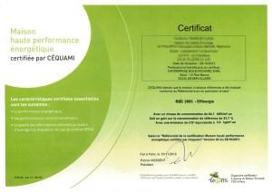 Certificat BBC Effinergie Bole Richard