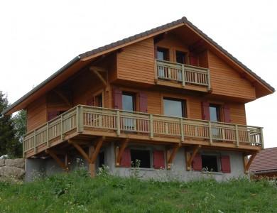 Maison ossature bois Bole Richard à Bois d'Amont (39)