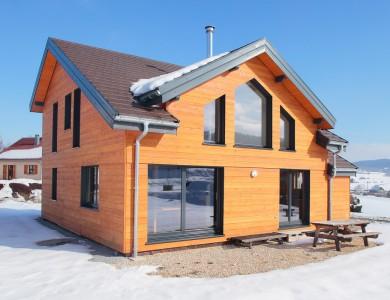 Bole Richard Maison ossature bois Maison bois Habitat bois Maison poteaux poutres La Longeville (25)