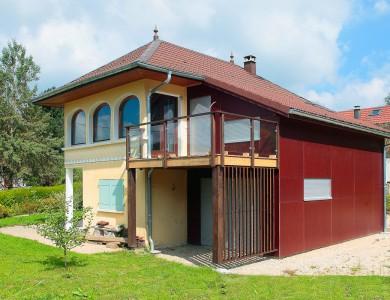 Bole Richard Extension ossature bois, Agrandissement maison bois Chaudron (25)