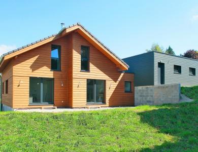 Bole Richard Maison ossature bois Maison bois Habitat bois Longevilles Mont d'Or (25)